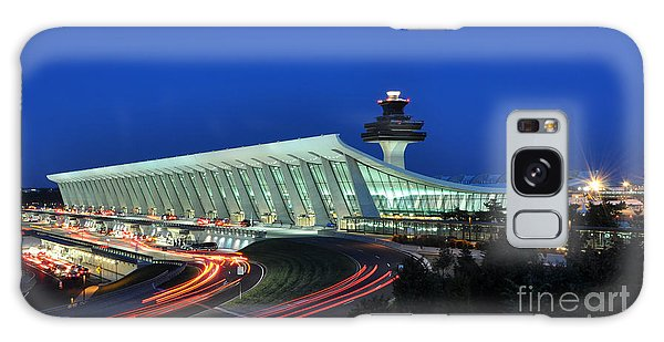 Washington Dulles International Airport At Dusk Galaxy Case by Paul Fearn