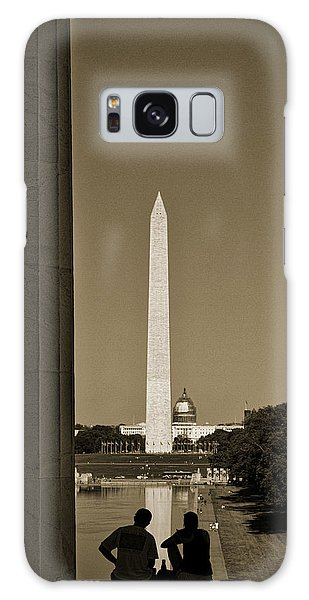 Washington Monument And Capitol #4 Galaxy Case