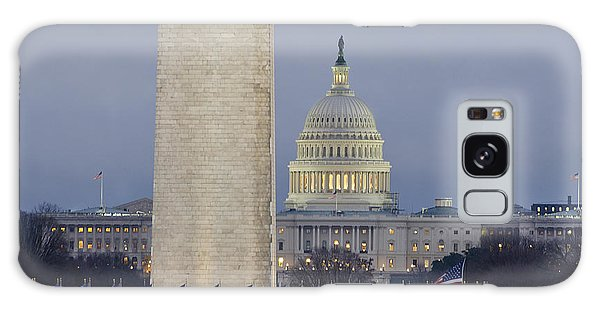 Washington Monument And United States Capitol Buildings - Washington Dc Galaxy Case