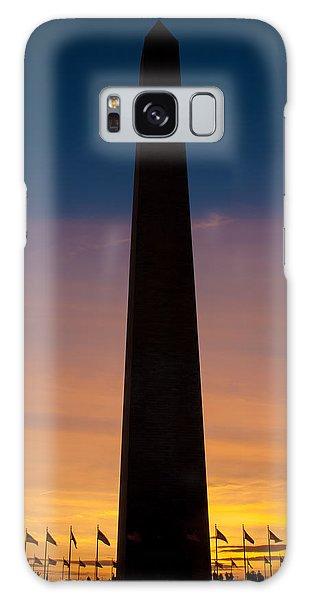 Washington Monument At Sunset Galaxy Case
