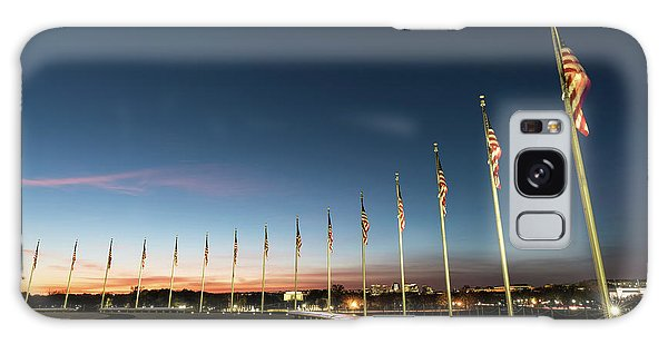 National Monument Galaxy Case - Washington Monument Flags by Larry Marshall