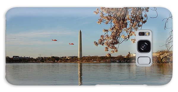Washington Monument Galaxy Case by Megan Cohen