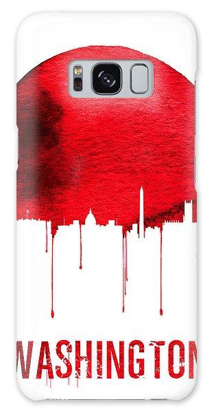 Downtown Galaxy Case - Washington Skyline Red by Naxart Studio