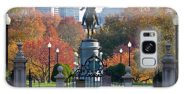 Washington Statue In Autumn Galaxy Case by Susan Cole Kelly