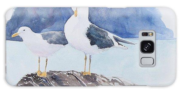 Washington - Two Gulls Galaxy Case by Christine Lathrop