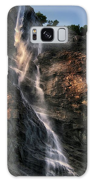 Geirangerfjord Waterfall Galaxy Case by Jim Hill