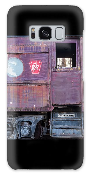 Watch Your Step Vintage Railroad Car Galaxy Case by Terry DeLuco