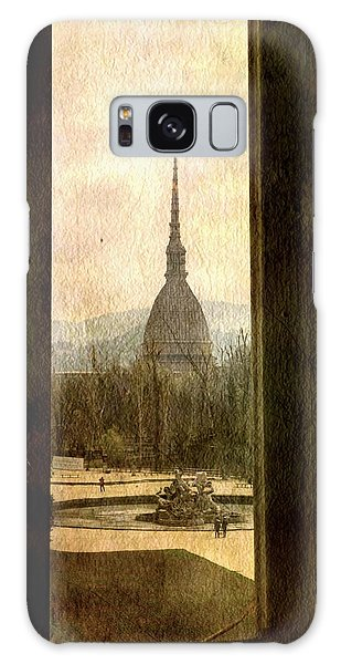 Watching Antonelliana Tower From The Window Galaxy Case by Vittorio Chiampan