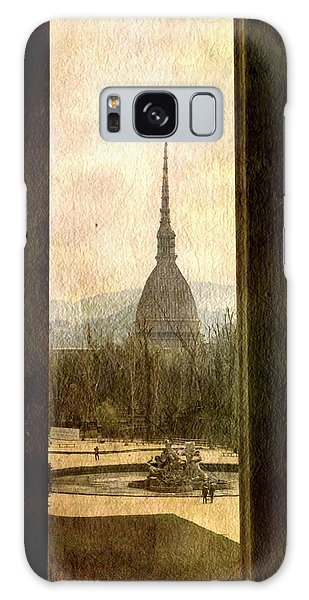 Watching Antonelliana Tower From The Window Galaxy Case