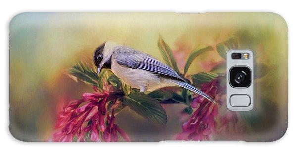 Watching Flowers Bloom Bird Art Galaxy Case by Jai Johnson