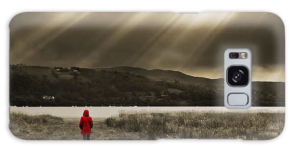 Lake Galaxy Case - Watching In Red by Meirion Matthias