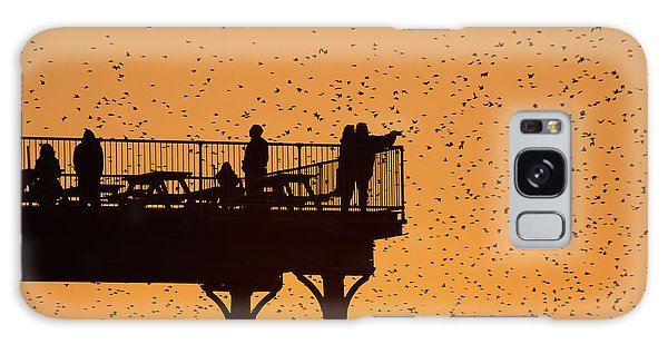 Watching The Sunset And Starlings In Aberystwyth Wales Galaxy Case