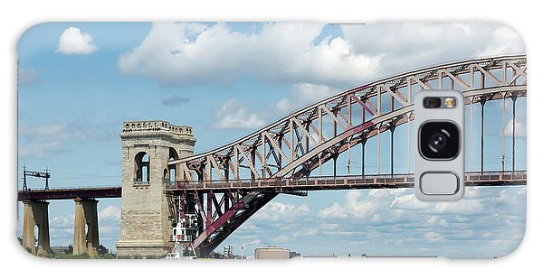 Hell Gate Bridge And Barge Galaxy Case