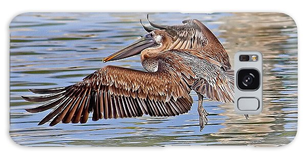 Water Ballet - Brown Pelican Galaxy Case by HH Photography of Florida