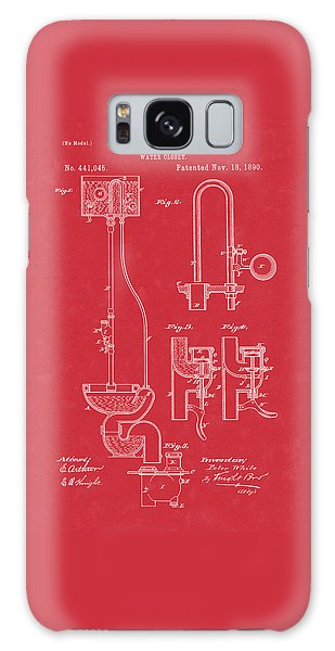Water Closet Patent Art Red Galaxy Case