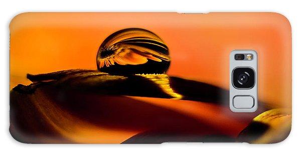 Water Drop On Orange Galaxy Case