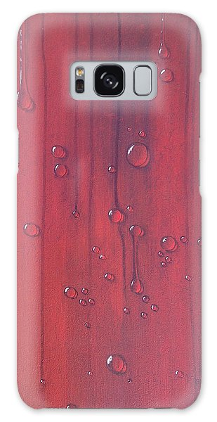 Water Drops On Red Galaxy Case