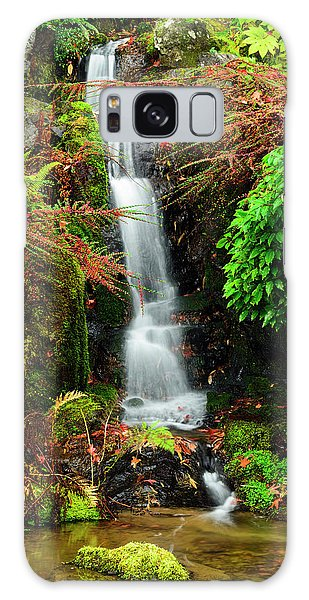 Waterfall At Kubota Garden Galaxy Case