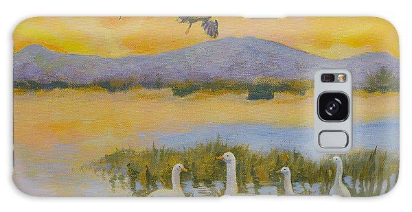 Water Fowl, Sutter Buttes Galaxy Case