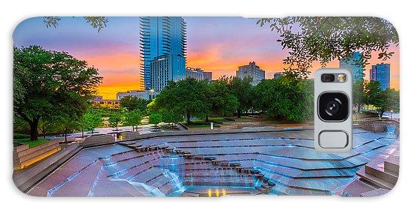 Water Gardens Sunset Galaxy Case