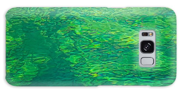 Water Green Galaxy Case by Britt Runyon