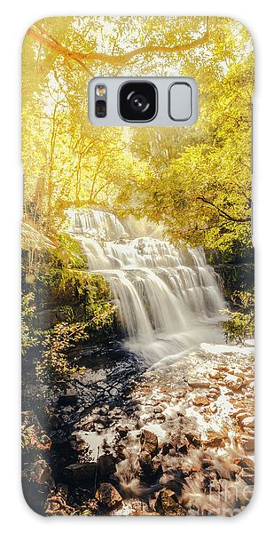 Beautiful Park Galaxy Case - Water In Fall by Jorgo Photography - Wall Art Gallery