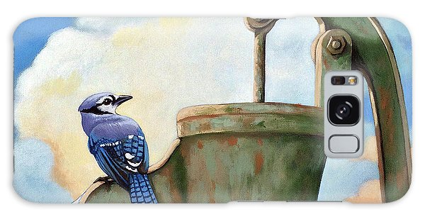 Water Is Life #3 -blue Jays On Water Pump Painting Galaxy Case