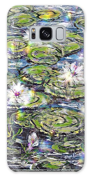 Water Lilies And Rainbows Galaxy Case