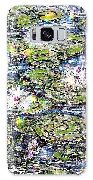 Water Lilies And Rainbows Galaxy Case by Desline Vitto