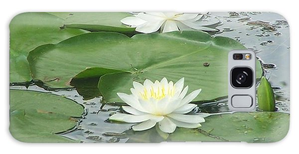 Water Lilies At Conesus Lake Galaxy Case by Charlotte Gray