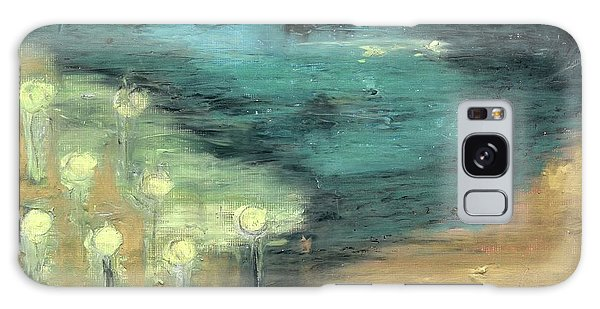 Water Lilies At The Pond Galaxy Case by Michal Mitak Mahgerefteh