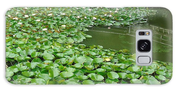 Water Lilies In The Moat Galaxy Case by Susan Lafleur