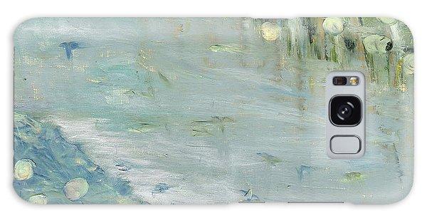 Water Lilies Galaxy Case by Michal Mitak Mahgerefteh