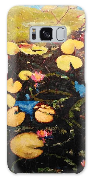 Galaxy Case featuring the painting Water Lilies by Ray Khalife