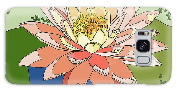 Water Lily And Duck Weed Galaxy Case