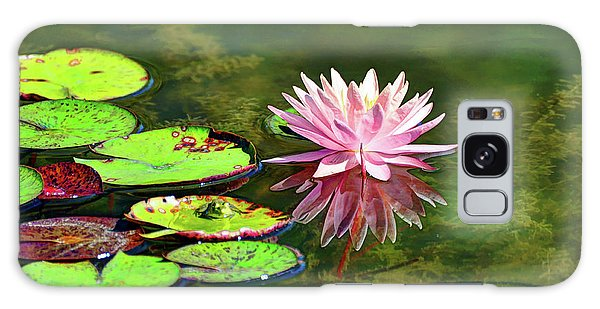 Water Lily And Frog Galaxy Case by Savannah Gibbs