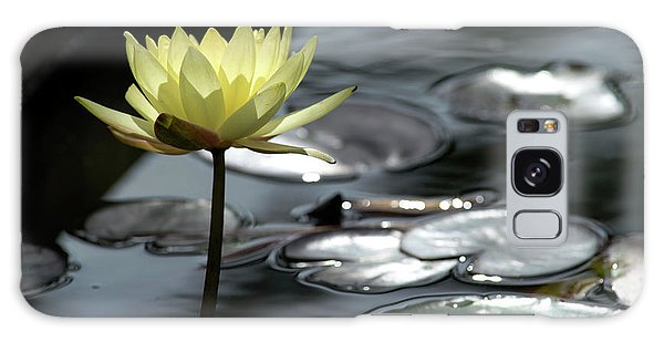 Water Lily And Silver Leaves Galaxy Case