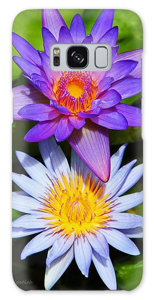 Water Lily Blossoms Galaxy Case