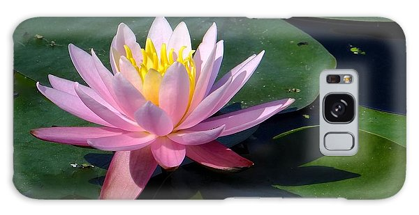 Water Lily In Mountain Lake Galaxy Case