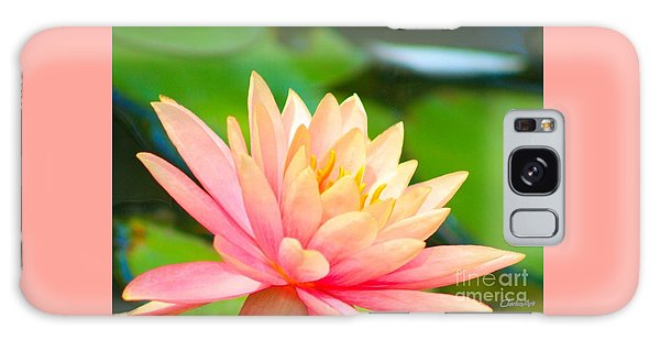 Water Lily In Pond Galaxy Case