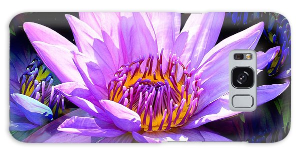 Water Lily In Purple Galaxy Case