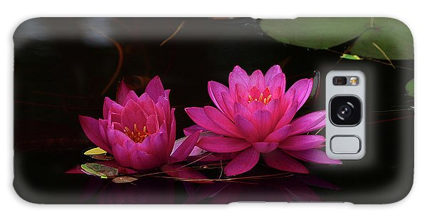 Water Lily Galaxy Case by Nancy Landry
