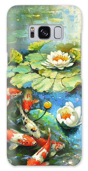 Water Lily Or Solar Pond      Galaxy Case by Dmitry Spiros