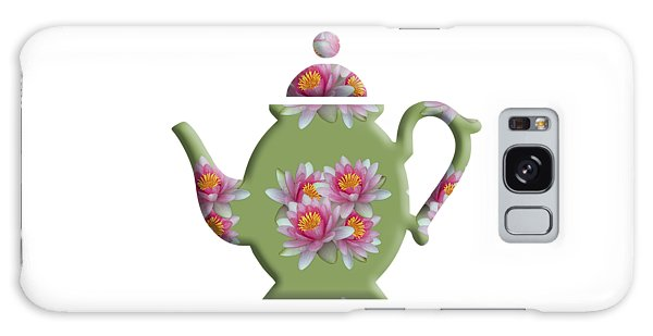 Water Lily Pattern Teapot Galaxy Case