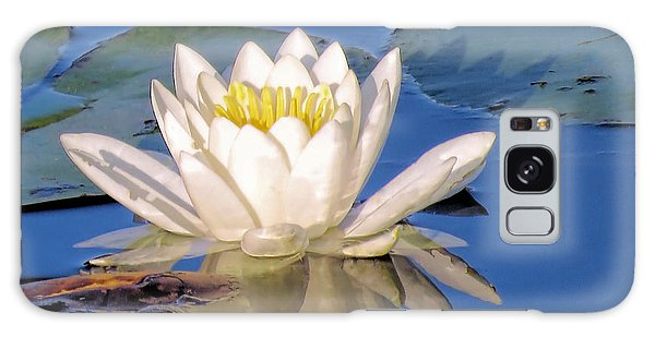Water Lily Reflection Galaxy Case