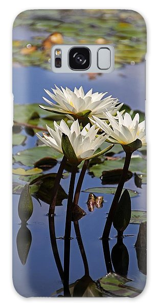 Water Lily Reflections Galaxy Case