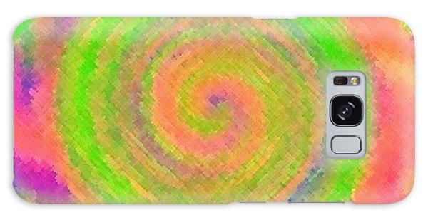 Water Melon Whirls Galaxy Case by Catherine Lott