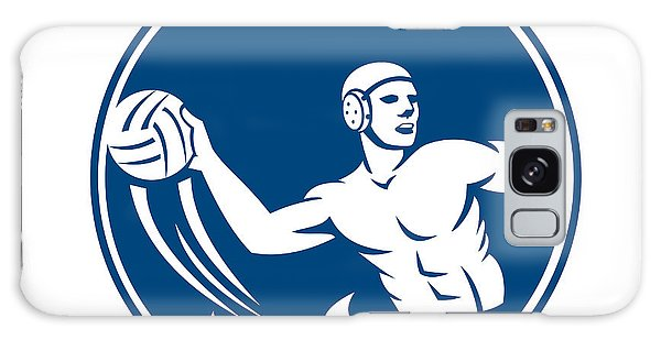 Sportsman Galaxy Case - Water Polo Player Throw Ball Circle Icon by Aloysius Patrimonio