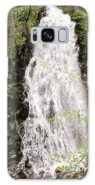 Water Roaring Down Cascade Falls, Farmington, Maine  -30377 Galaxy Case