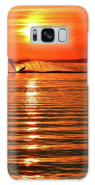Water Skiing At Sunrise  Galaxy Case